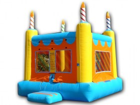 Crazy Square Birthday Cake Bouncer - Rental Price: $100