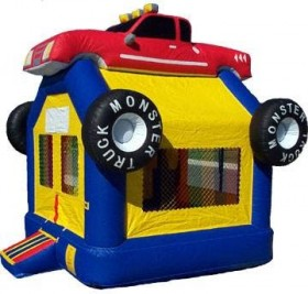 Monster Truck Bounce House - Rental Price: $100