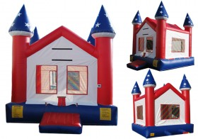 Patriotic Bounce House - Rental Price: $100