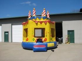 Round Birthday Cake Bounce House - Rental Price: $100