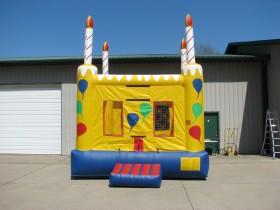 Square Birthday Cake Bouncer  -  Rental Price: $100