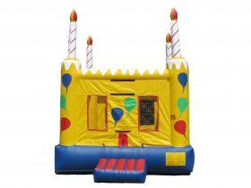 Square Birthday Cake Bouncer  -  Rental Price: $105