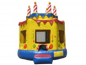 Round Birthday Cake Bounce House - Rental Price: $105