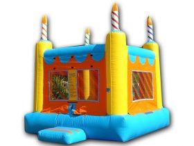 Crazy Square Birthday Cake Bouncer - Rental Price: $105